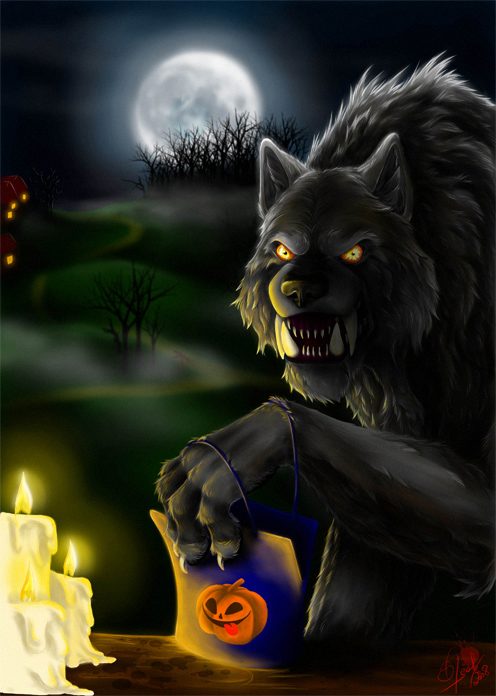 trick or treat by steelc - Halloween Werewolf